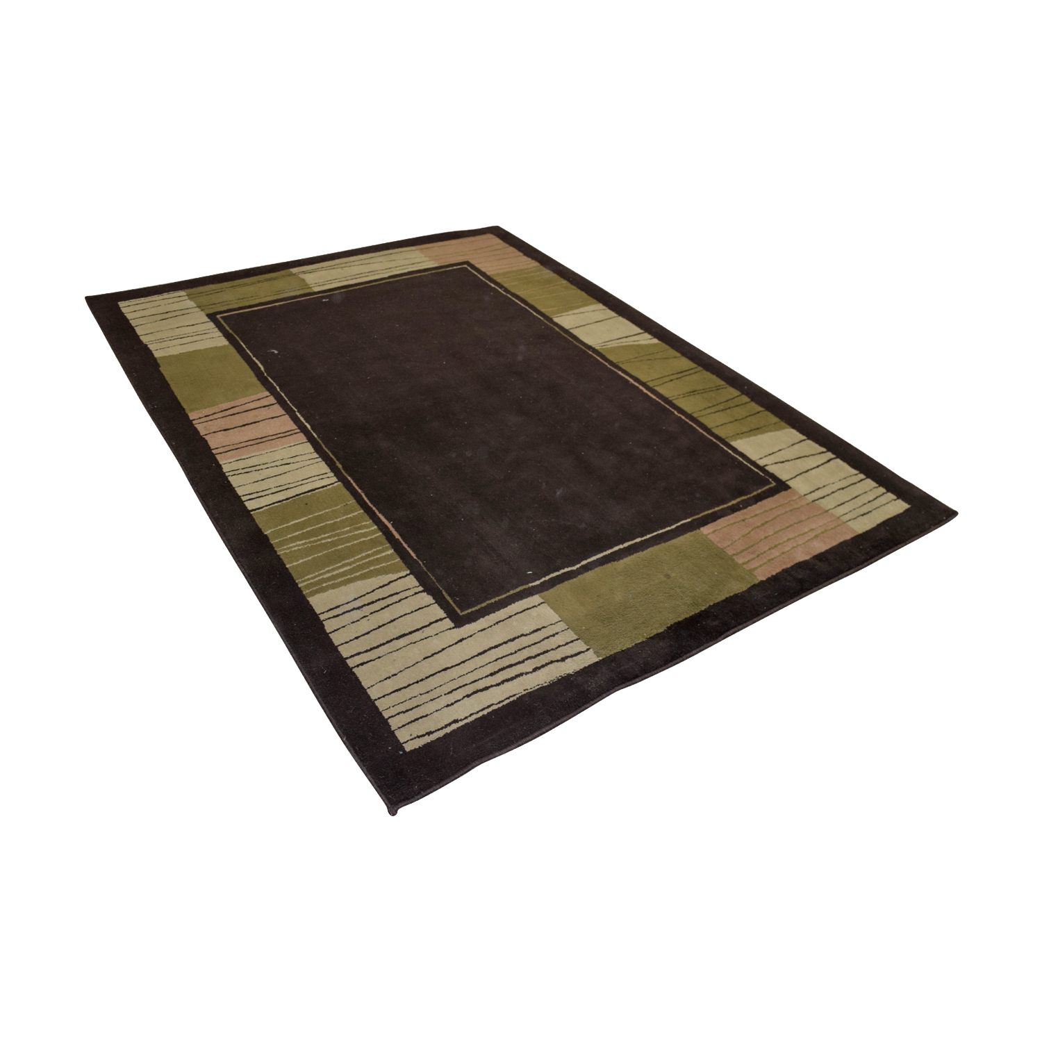 Brown Green Pink Rug price