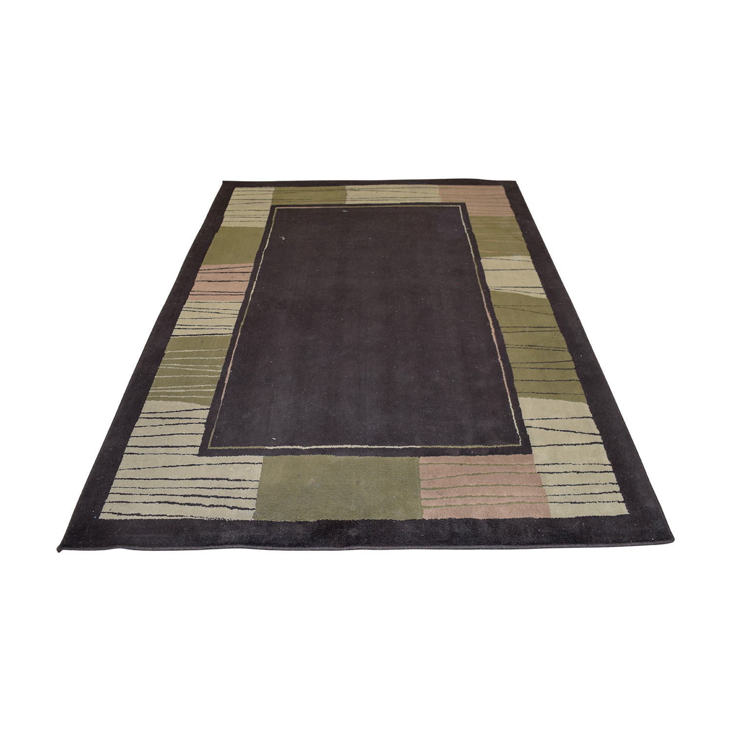 buy Brown Green Pink Rug