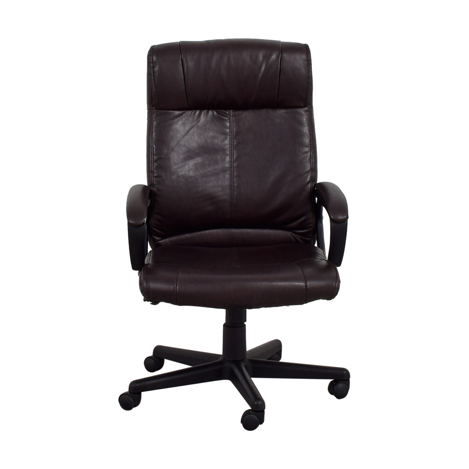 Brown Leather Desk Chair for sale