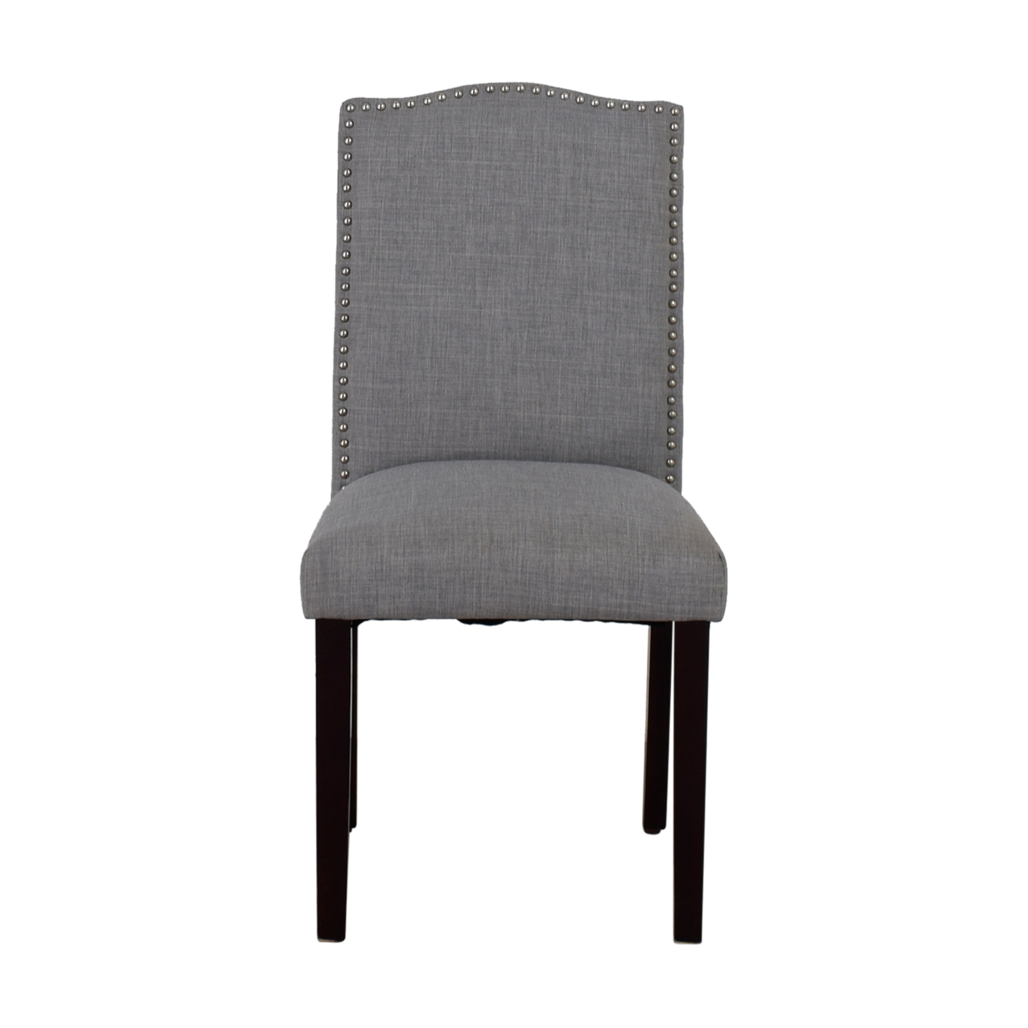 Grey Nailhead Fabric Chair Accent Chairs
