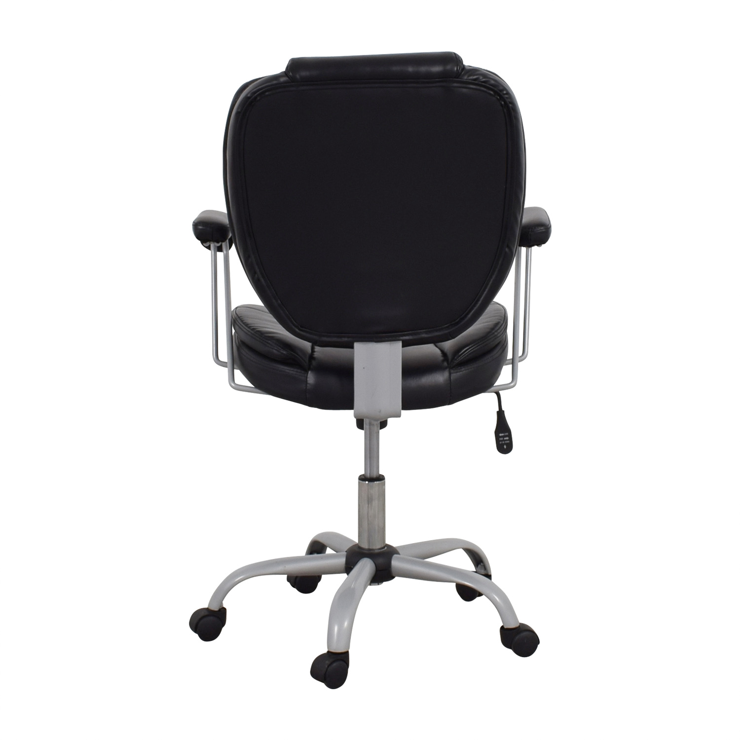 Black Leather Desk Chair on sale