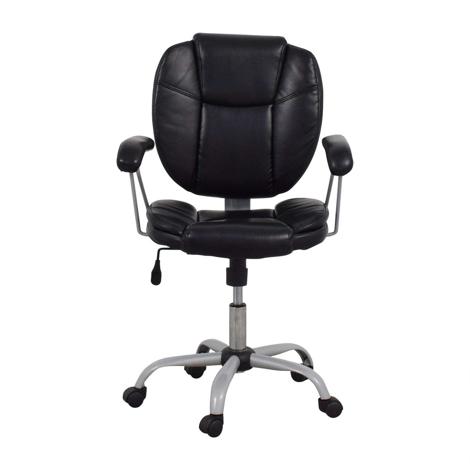 shop Black Leather Desk Chair Accent Chairs