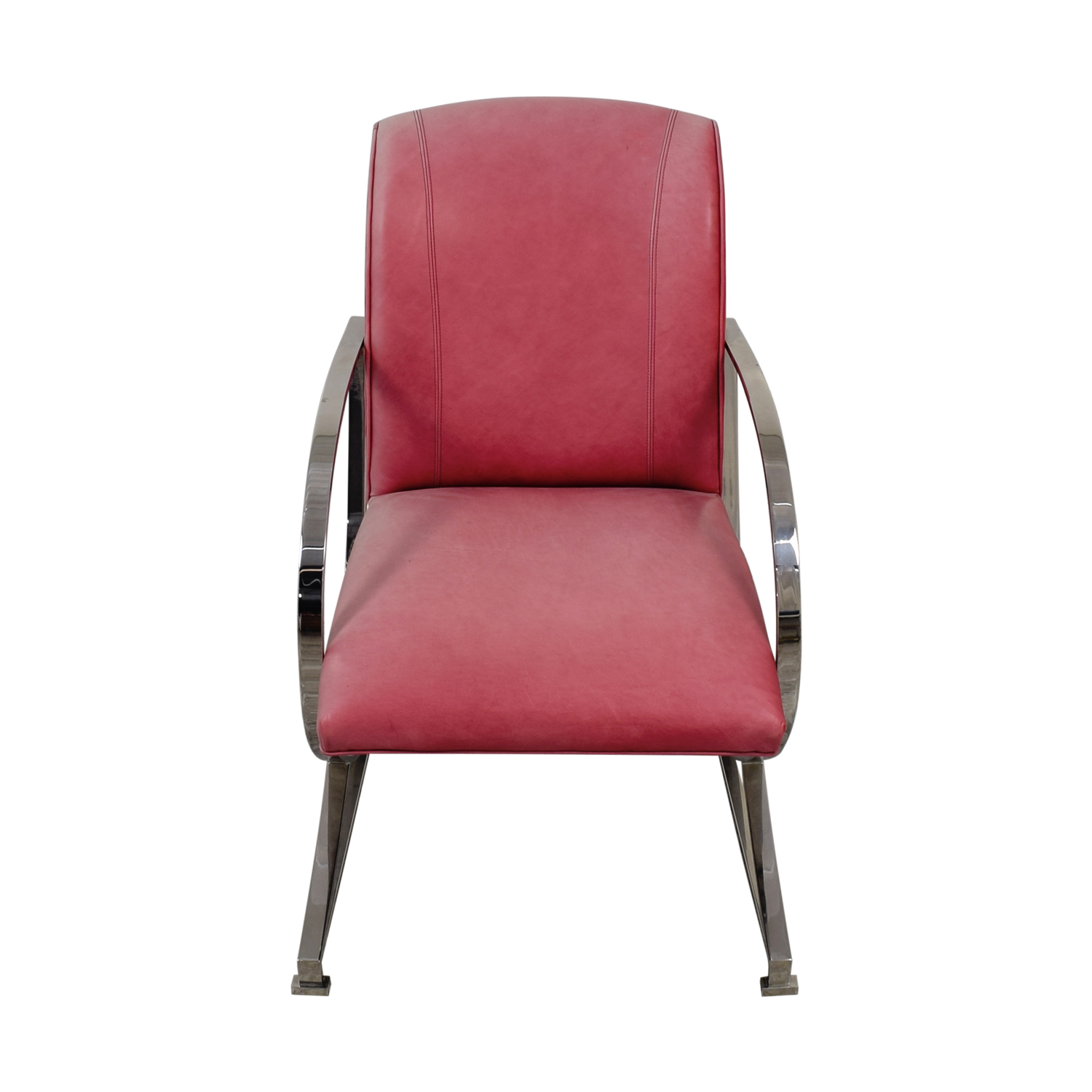Charmant ... Century Furniture Century Furniture Stainless Steel Pink Leather Chair  Accent Chairs ...