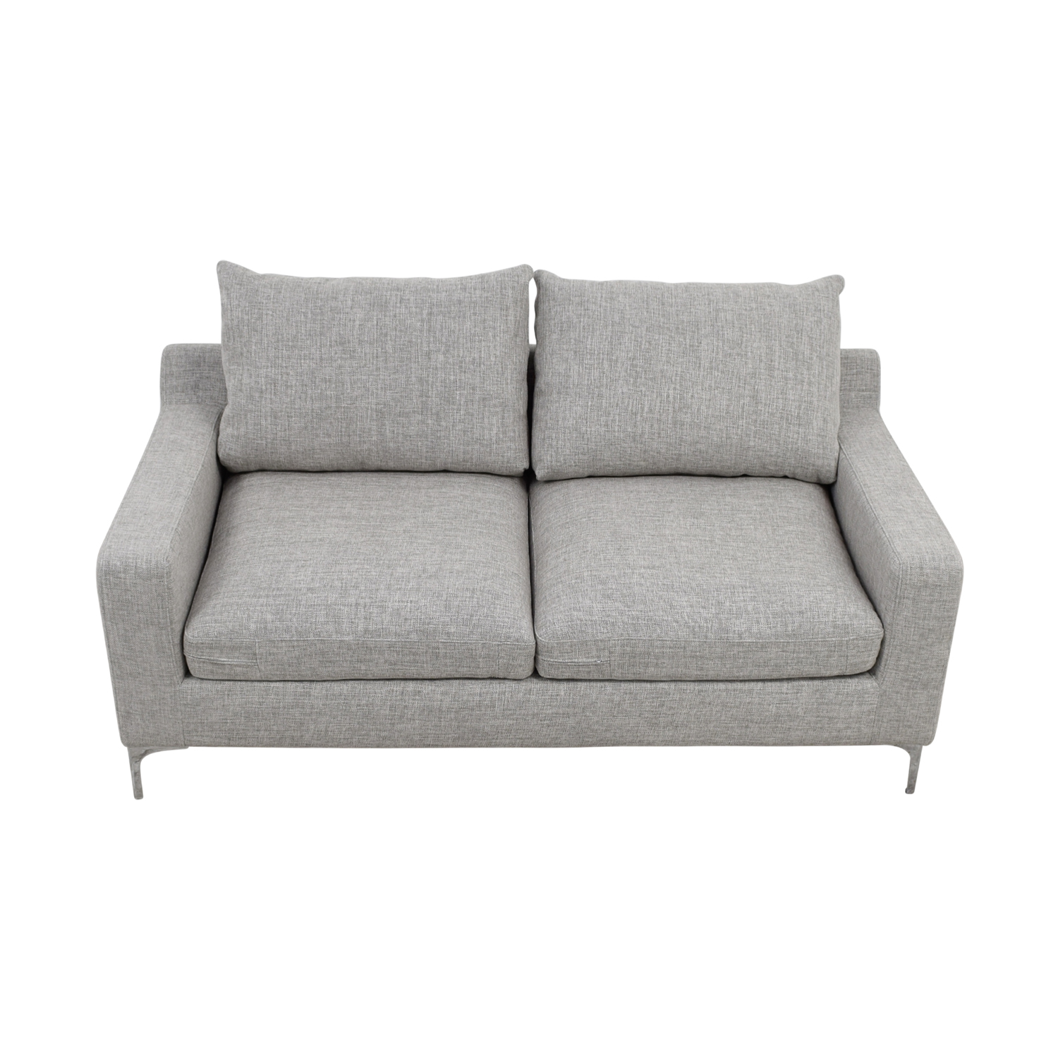 Sloan Light Grey Two-Cushion Sofa nyc