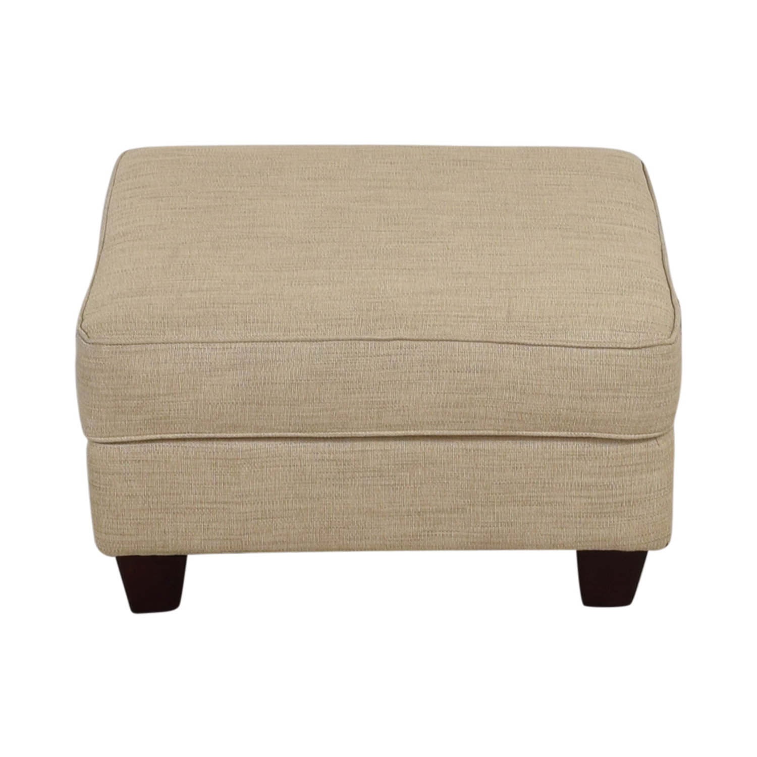 shop Bobs Furniture Colby Tan Ottoman with Storage Bobs Furniture Ottomans