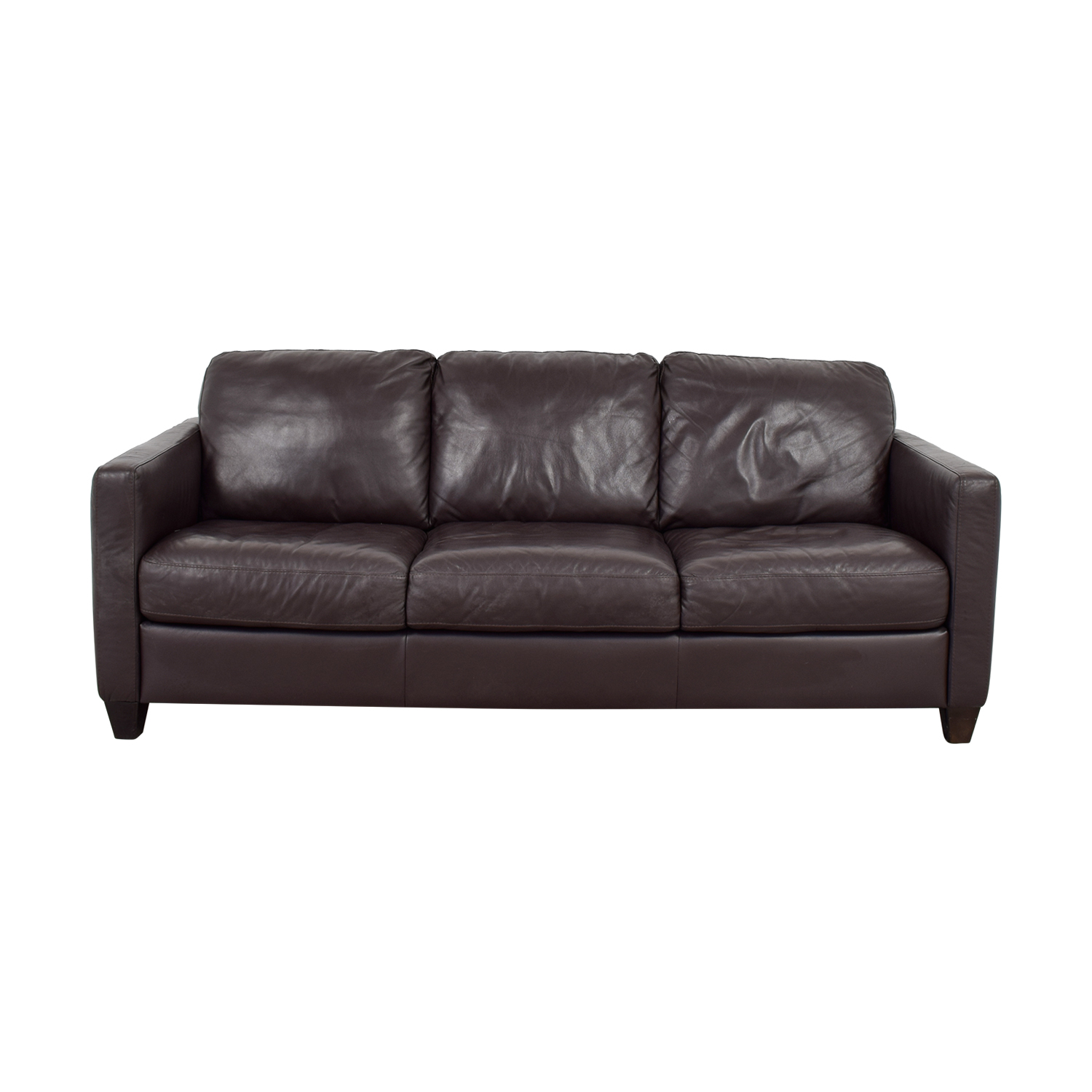 79 off natuzzi natuzzi brown leather three cushion couch sofas - Sofas natuzzi ...