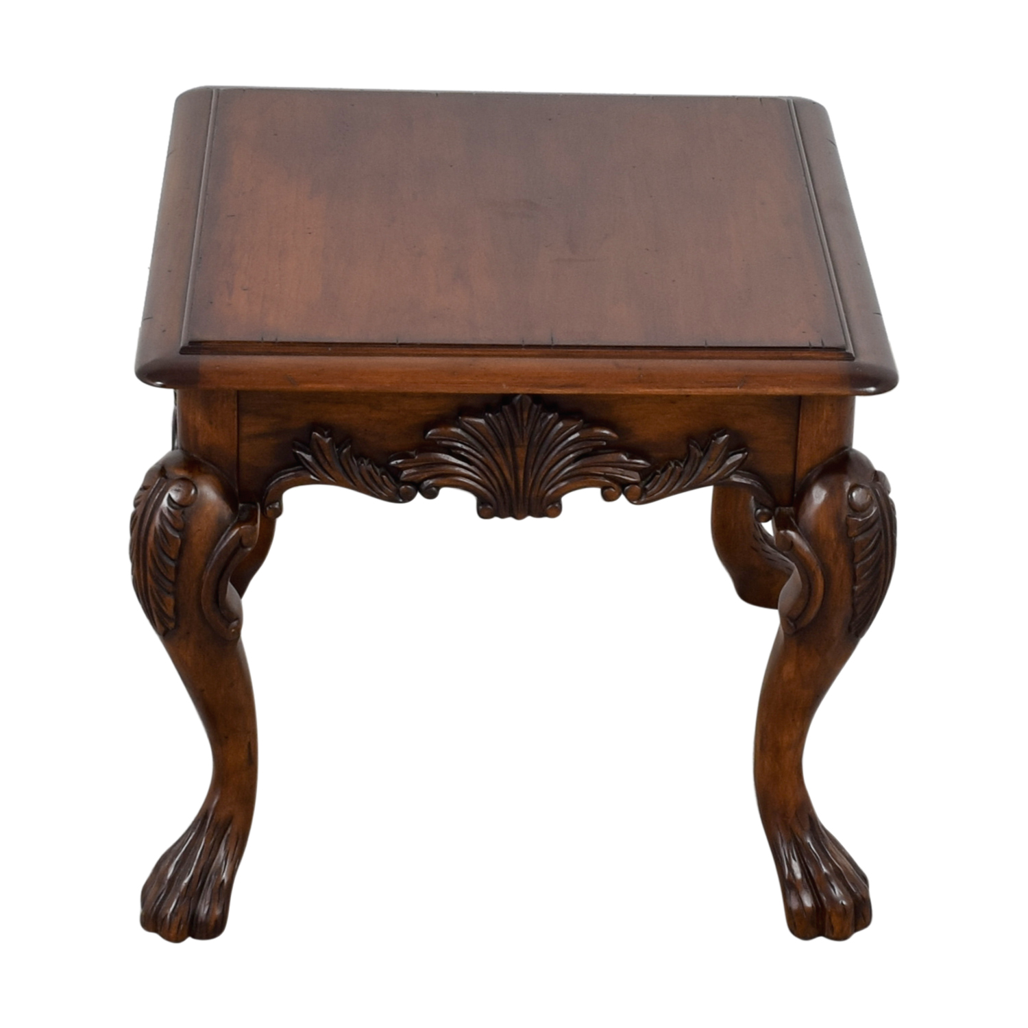 buy Carved Wood End Table online
