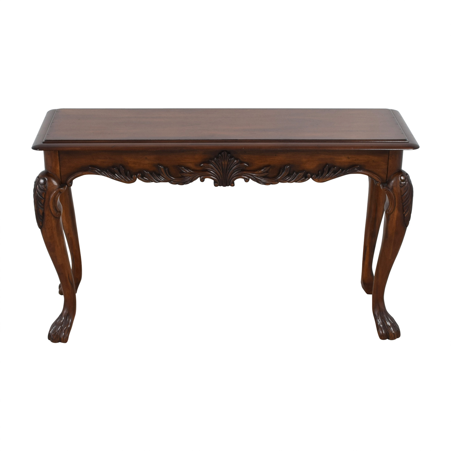Carved Wood Sofa Table discount