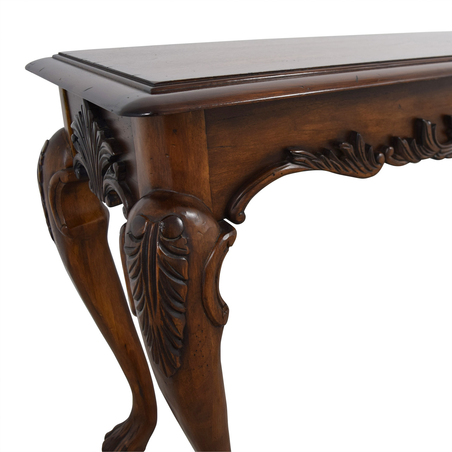 73 Off Carved Wood Sofa Table Tables