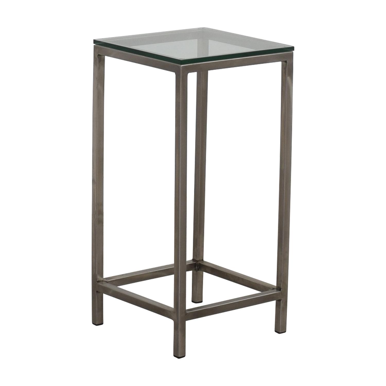 Crate Barrel Table: Crate & Barrel Crate & Barrel Era Square Glass