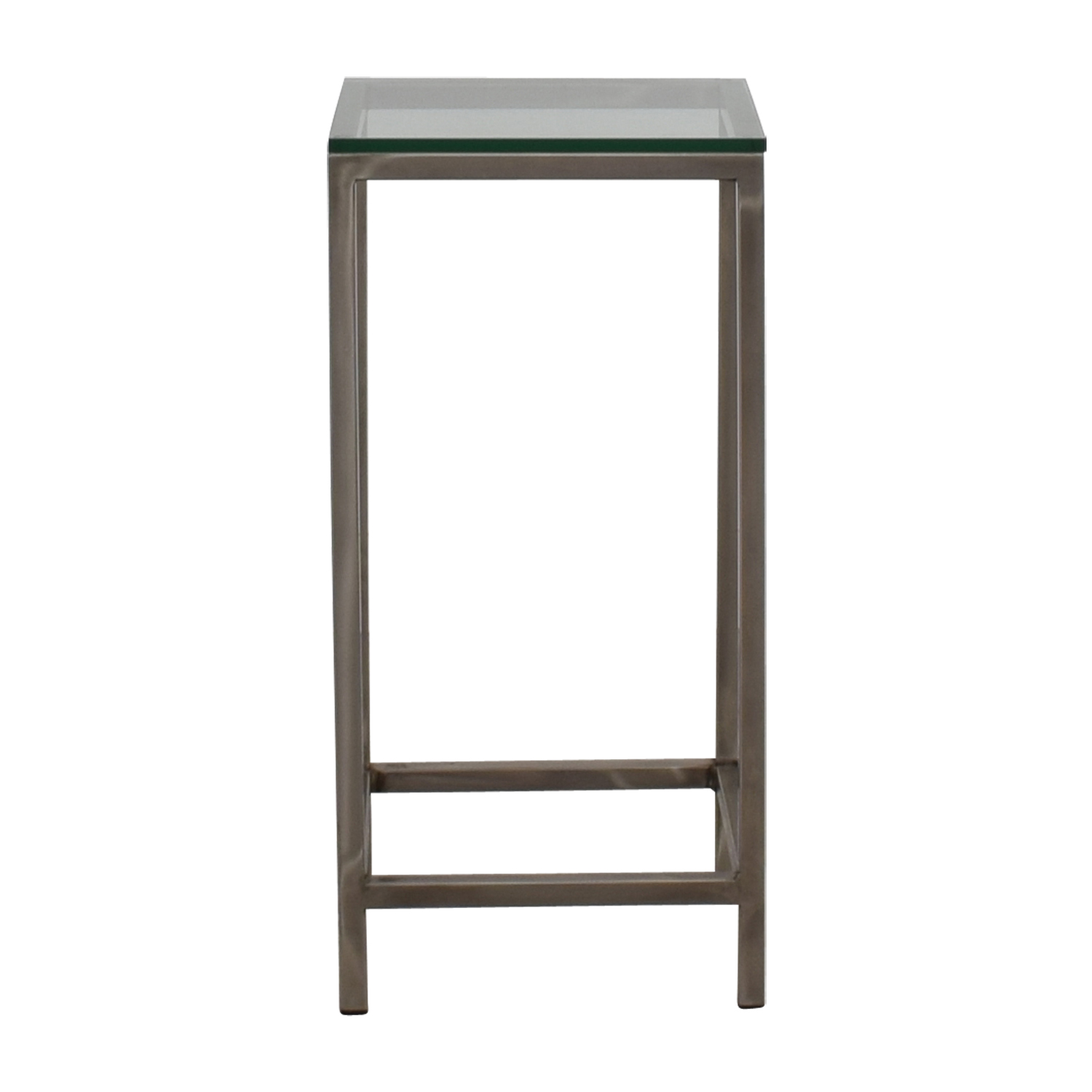 shop Crate & Barrel Crate & Barrel Era Square Glass Top Side Table online