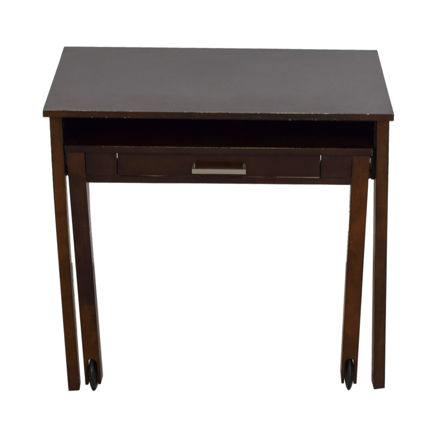 shop West Elm Pullout Wood Desk on Castors West Elm