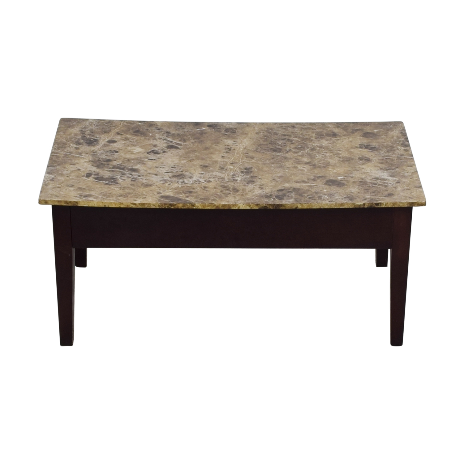 Faux Marble Top Coffee Table With Storage second hand