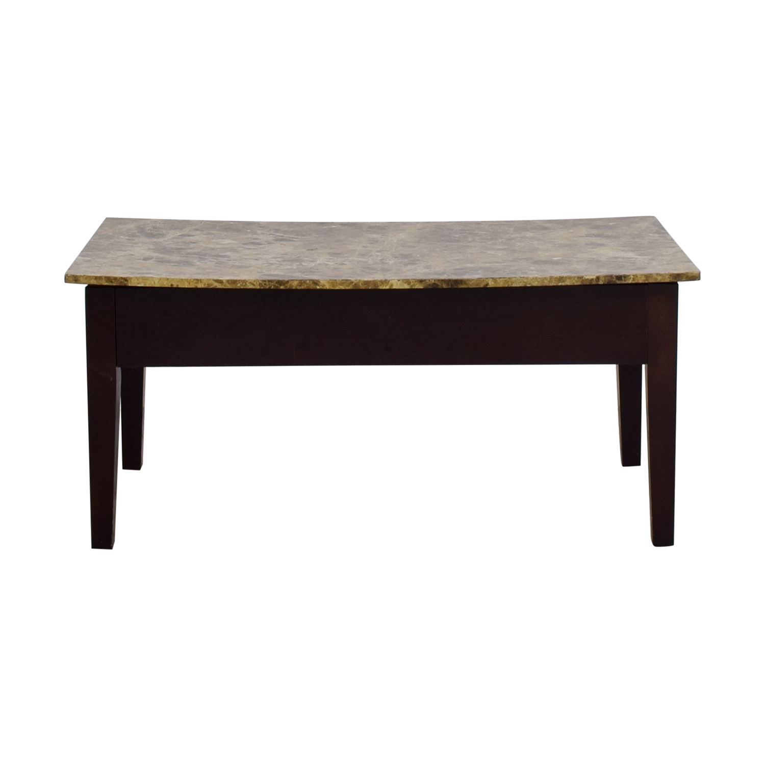 Faux Marble Top Coffee Table With Storage on sale