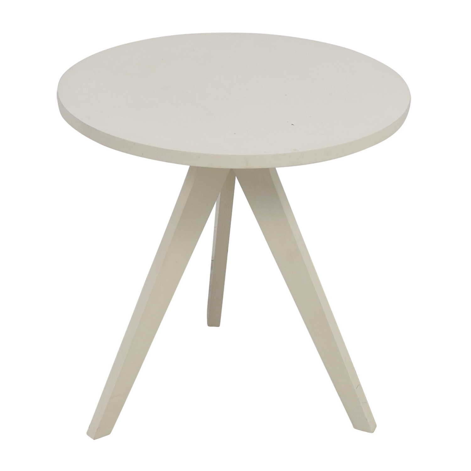 Delicieux ... End Tables; Shop West Elm White Round Tripod Table West Elm ...