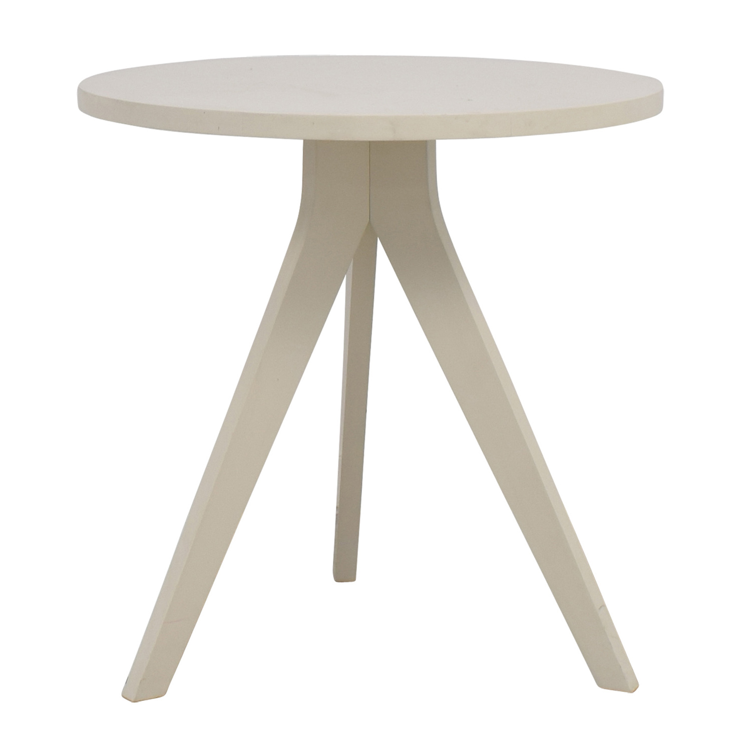 Etonnant West Elm West Elm White Round Tripod Table End Tables ...