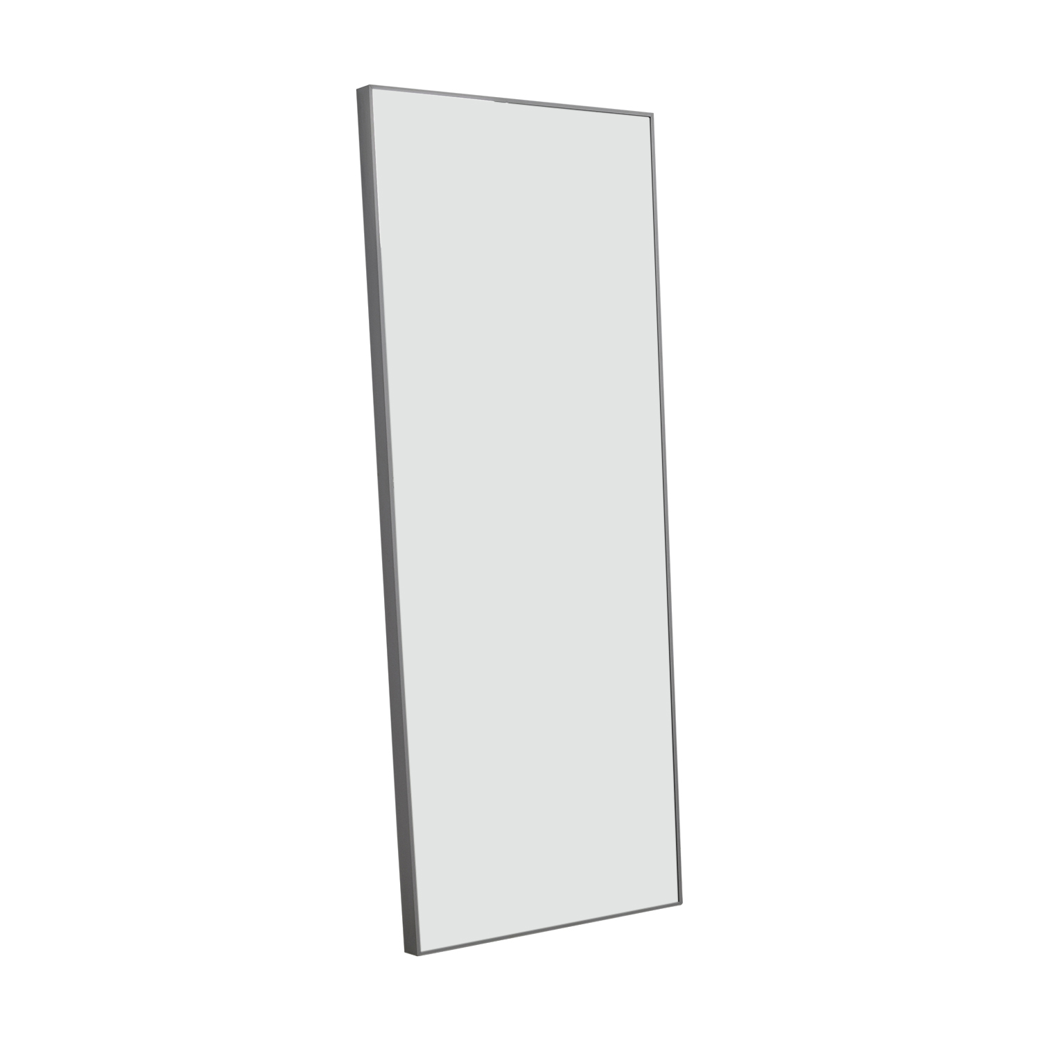 Floor Mirror with Chrome Border silver frame/mirror