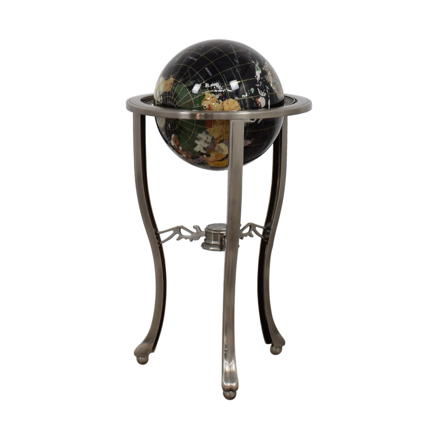 Semi Precious Stone Floor Standing Globe / Decorative Accents