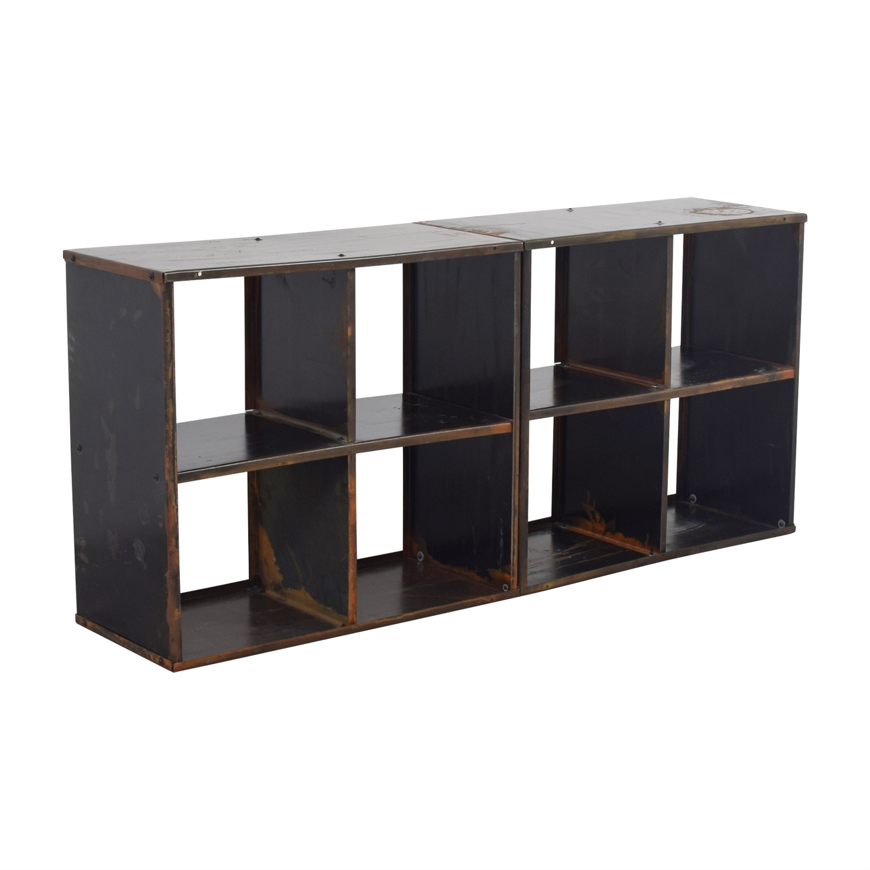 ... buy Modern Anthology Vintage Black Book Shelf Media Console Modern Antholgy Storage ...
