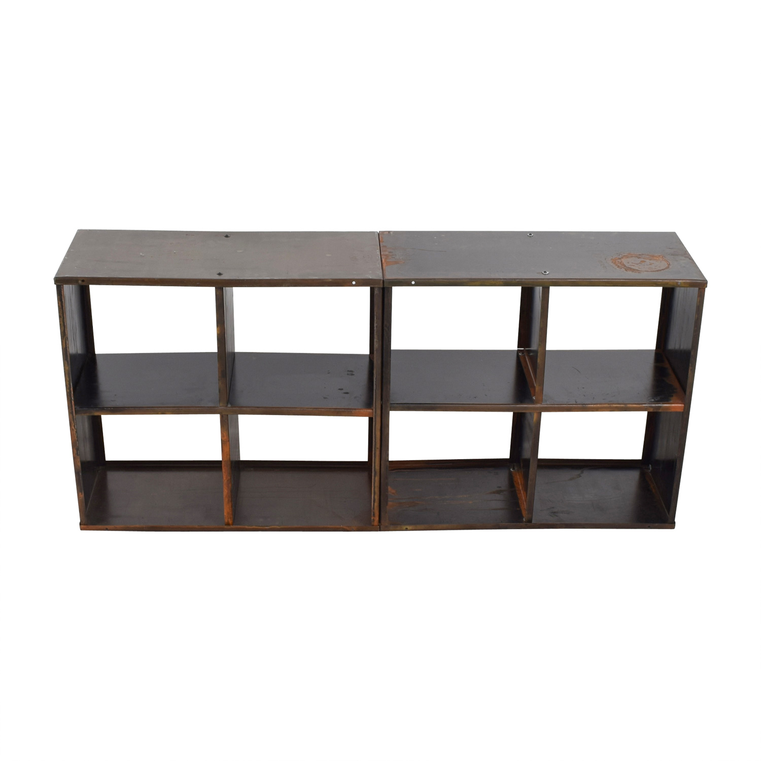 Modern Anthology Vintage Black Book Shelf Media Console sale