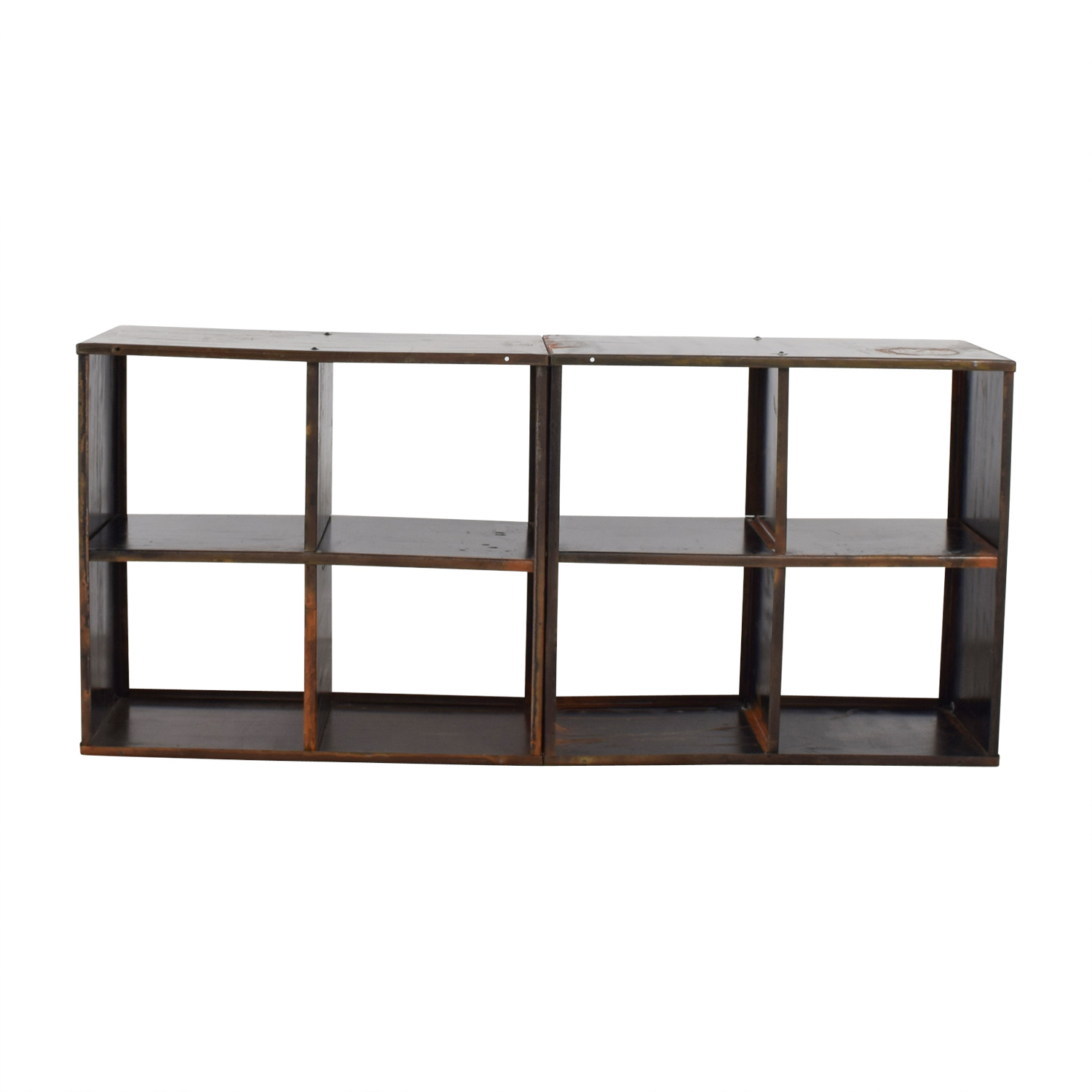 buy Modern Anthology Vintage Black Book Shelf Media Console Modern Antholgy Bookcases & Shelving