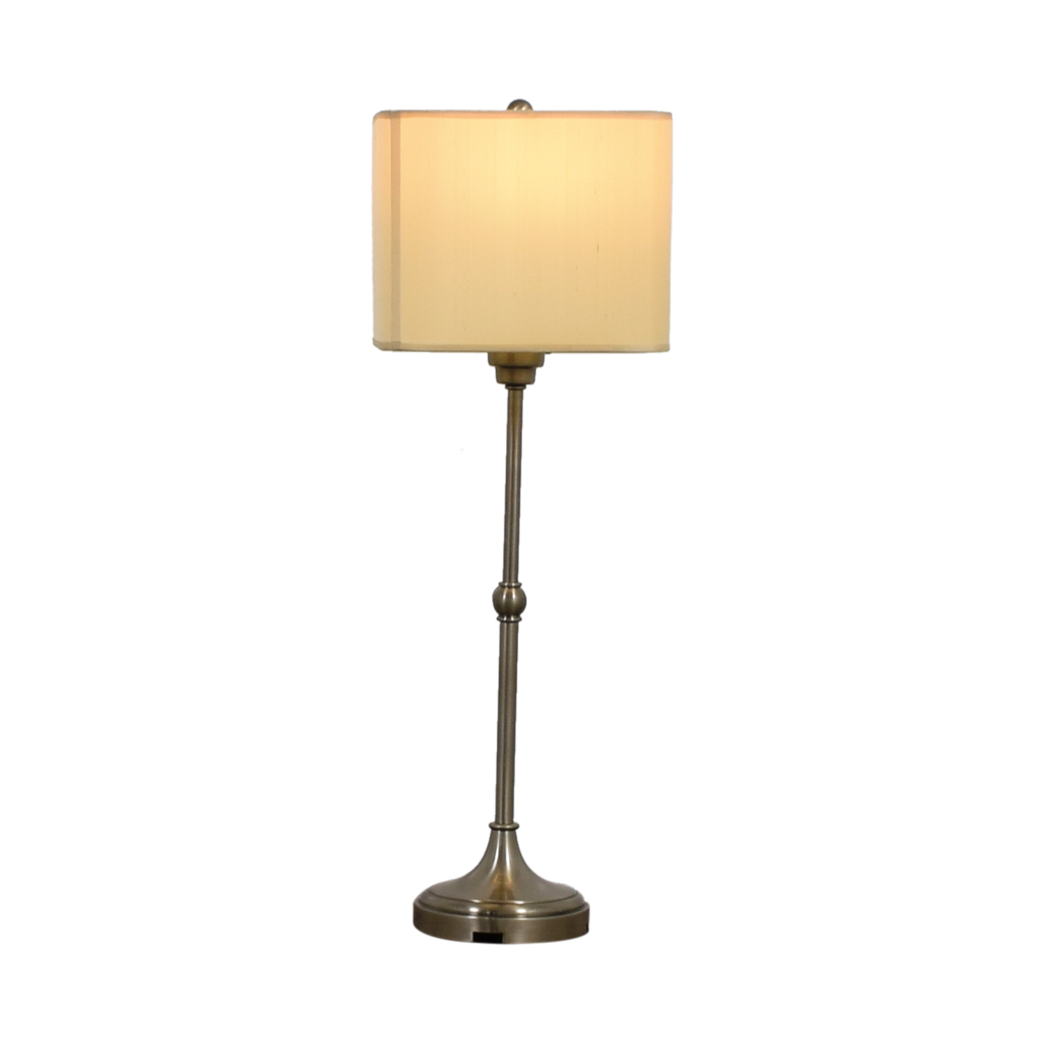 buy Restoration Hardware Restoration Hardware Brushed Nickel Tall Table Lamp online