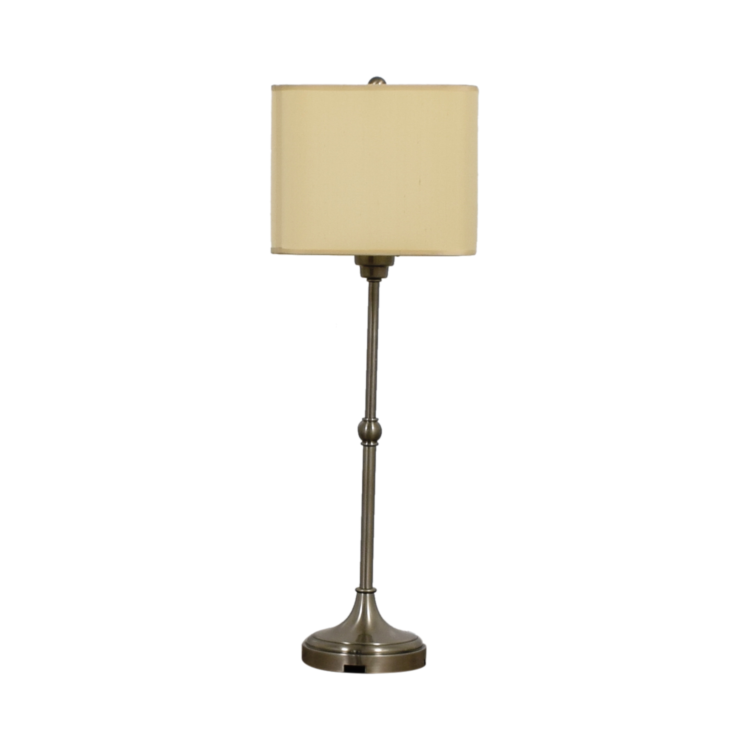 type nickel and with dacia dar image tripod faux lighting finish in lamps white single silk polished brushed table light lamp shade chrome