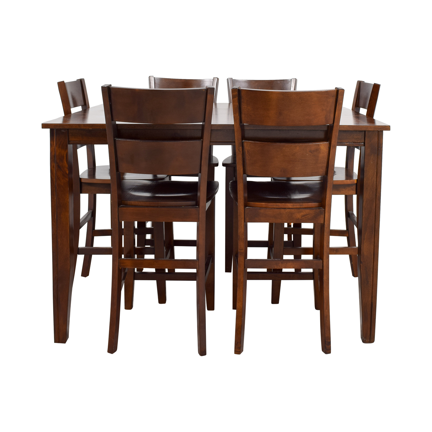 73 Off Bob S Furniture Bob S Furniture Wood Pub Dining Set Tables