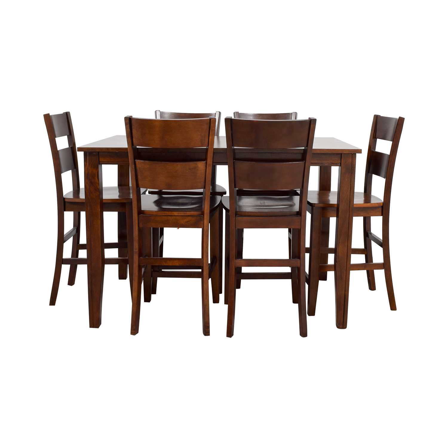 Bobs Furniture Wood Pub Dining Set On Sale