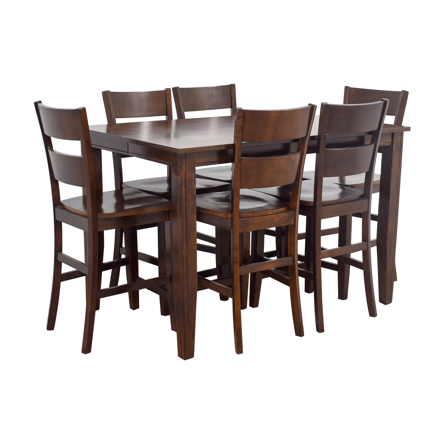 Bobs Furniture Bobs Furniture Wood Pub Dining Set discount