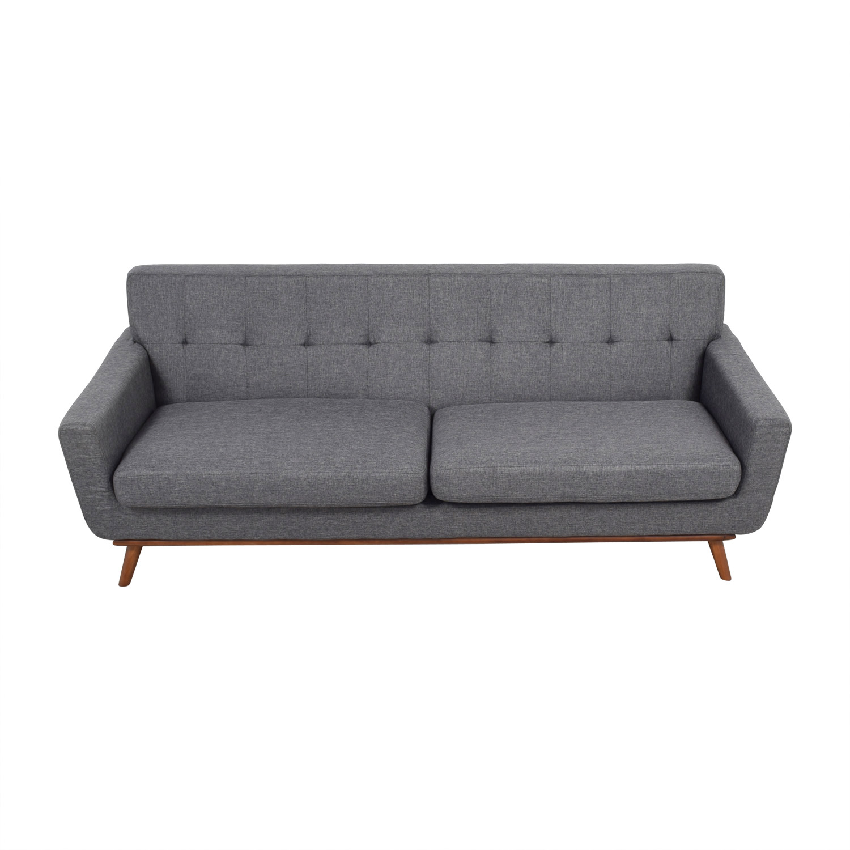 buy Inmod Charcoal Grey Tufted Lars Sofa Inmod
