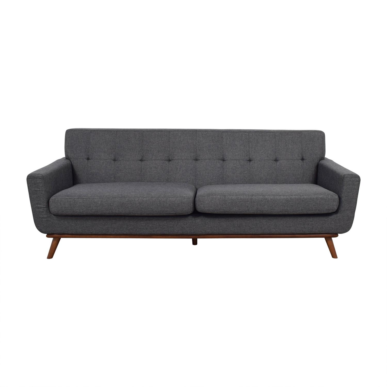 shop Inmod Charcoal Grey Tufted Lars Sofa Inmod