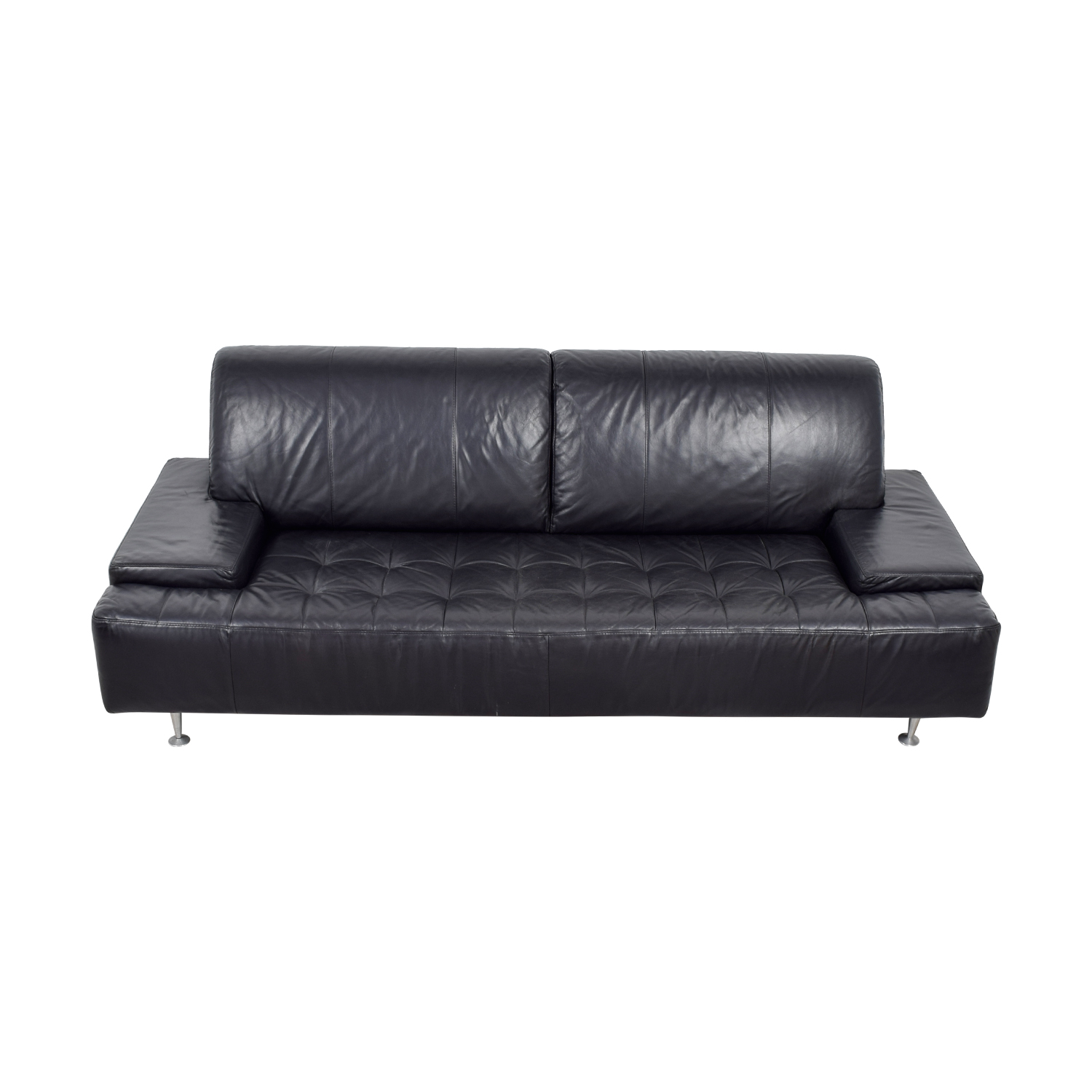 buy Nicoletti Nicoletti Black Leather Tufted Couch online