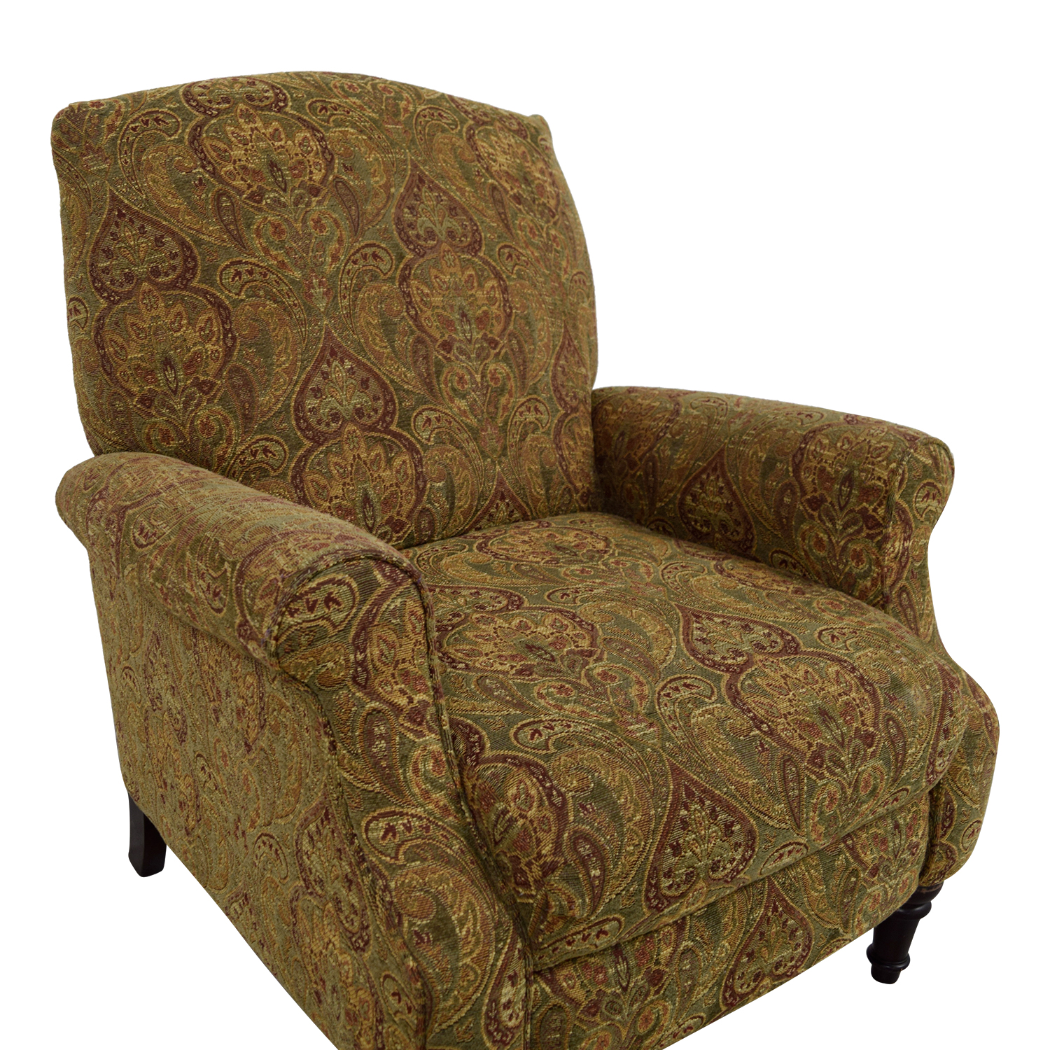 81 Off Green And Burgundy Paisley Recliner Chairs