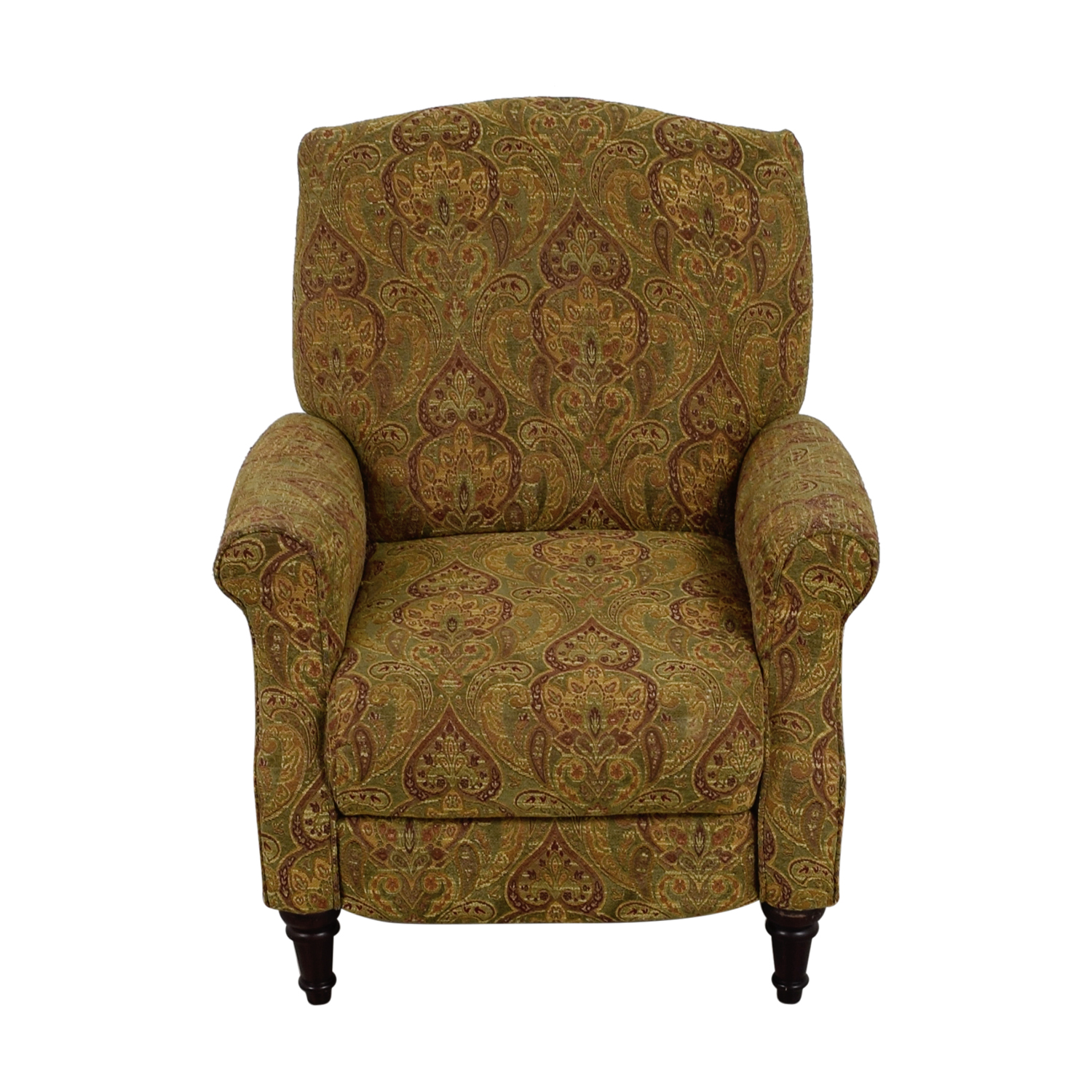 Green and Burgundy Paisley Recliner Recliners