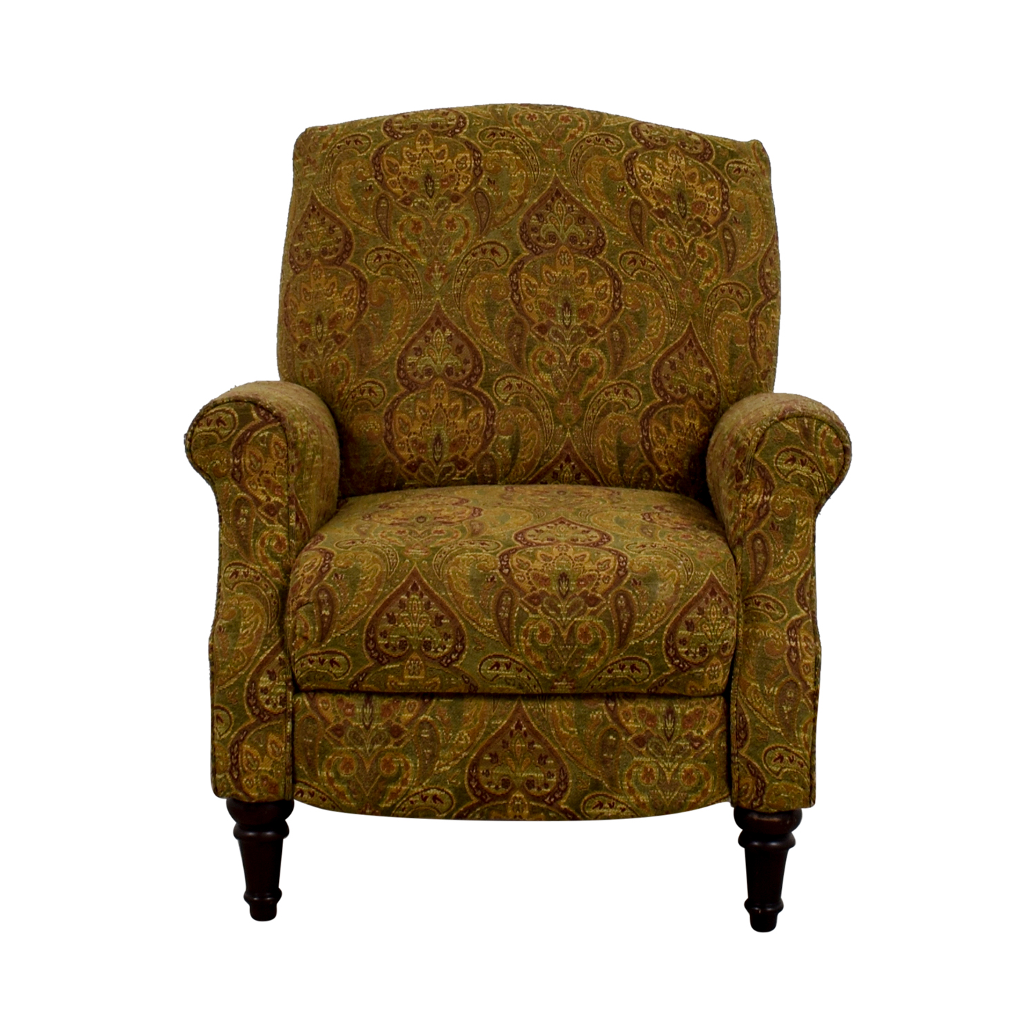 buy Green and Burgundy Paisley Recliner Chairs