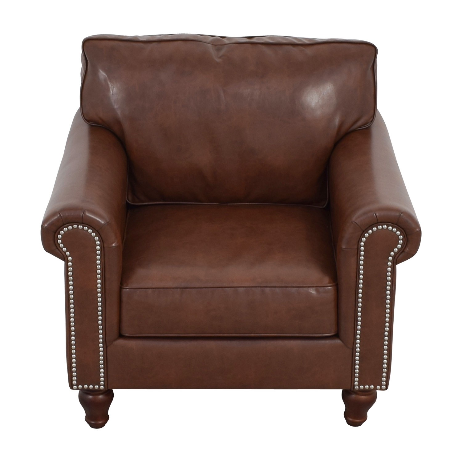 83% OFF - Pier 1 Pier 1 Imports Alton Tobacco Brown Rolled ...