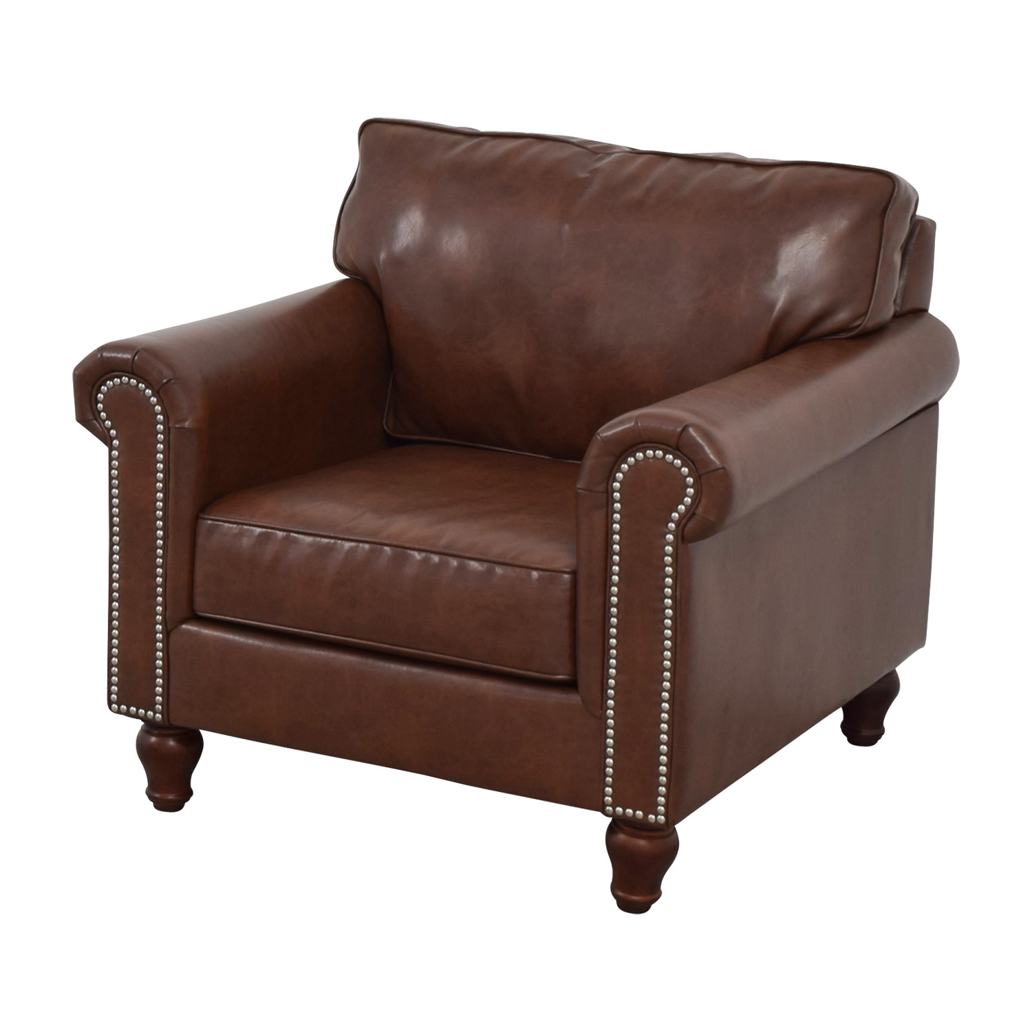 Pier 1 Imports Pier 1 Imports Alton Tobacco Brown Rolled Nailhead Armchair coupon