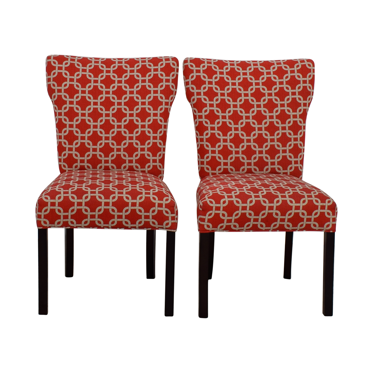 buy Red and White Accent Chairs