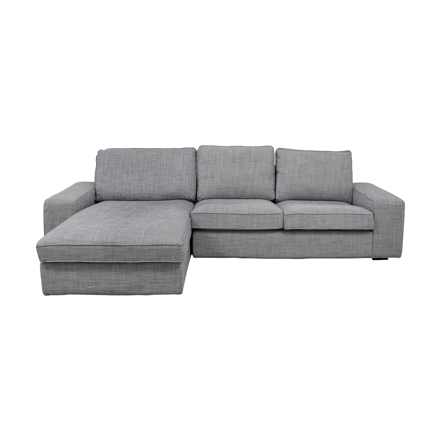 Enjoyable 30 Off Ikea Ikea Light Grey Chaise Sectional Sofas Pabps2019 Chair Design Images Pabps2019Com