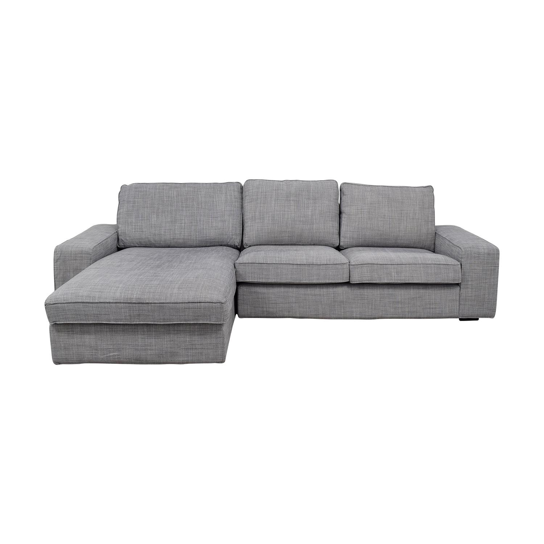 IKEA IKEA Light Grey Chaise Sectional discount