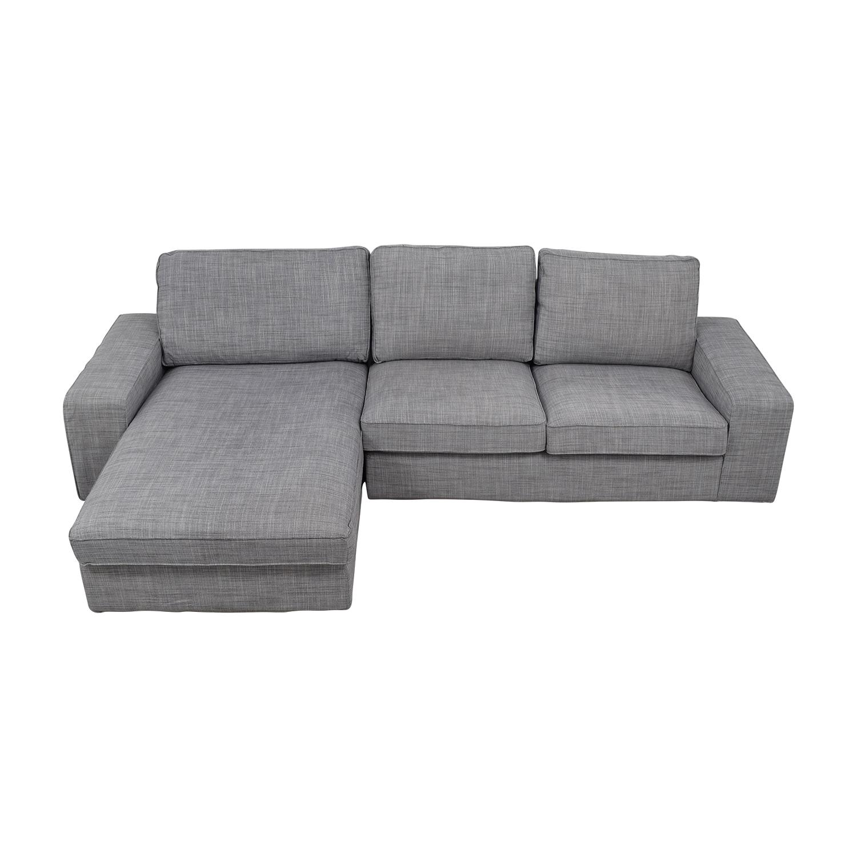 shop IKEA IKEA Light Grey Chaise Sectional online
