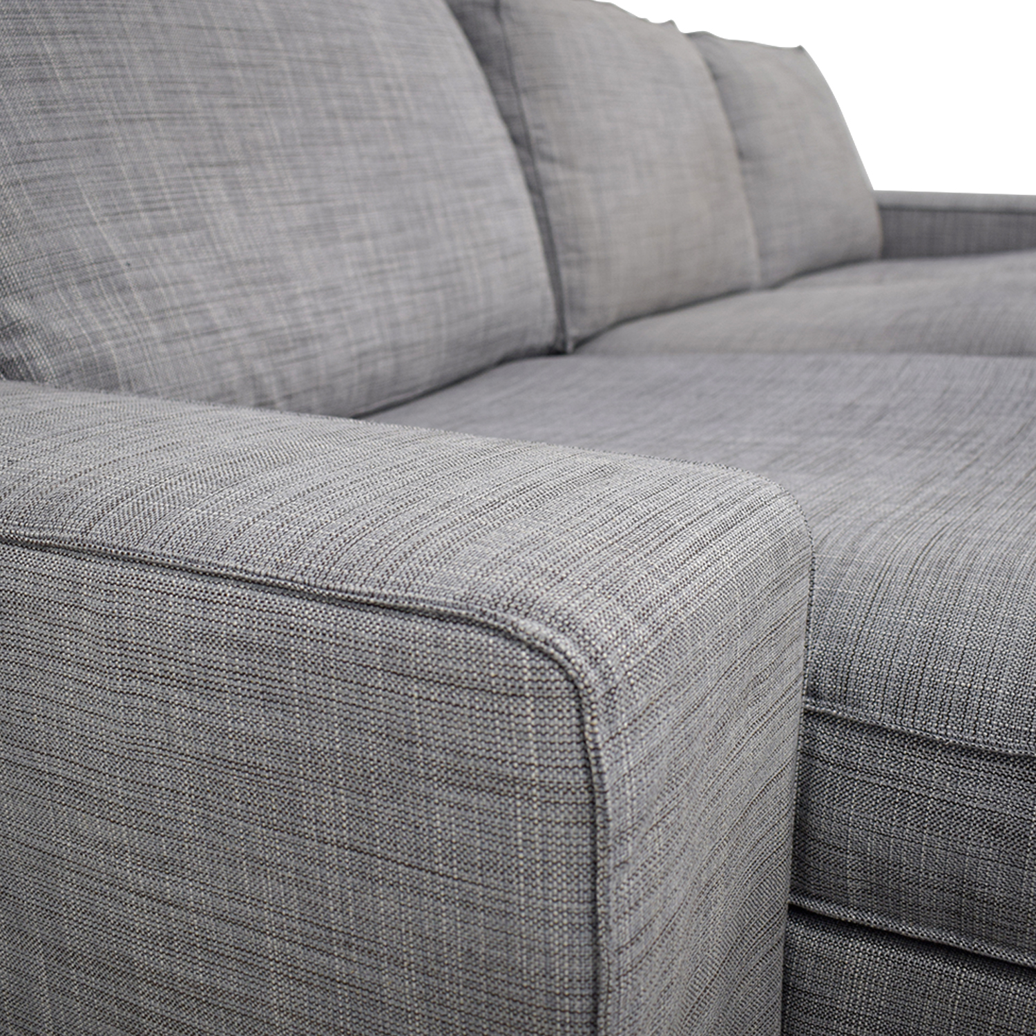 30% OFF - IKEA IKEA Light Grey Chaise Sectional / Sofas