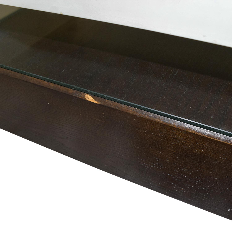 West Elm West Elm Black Platform Coffee Table with White Bridge used