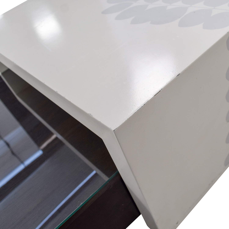 West Elm West Elm Black Platform Coffee Table with White Bridge Coffee Tables