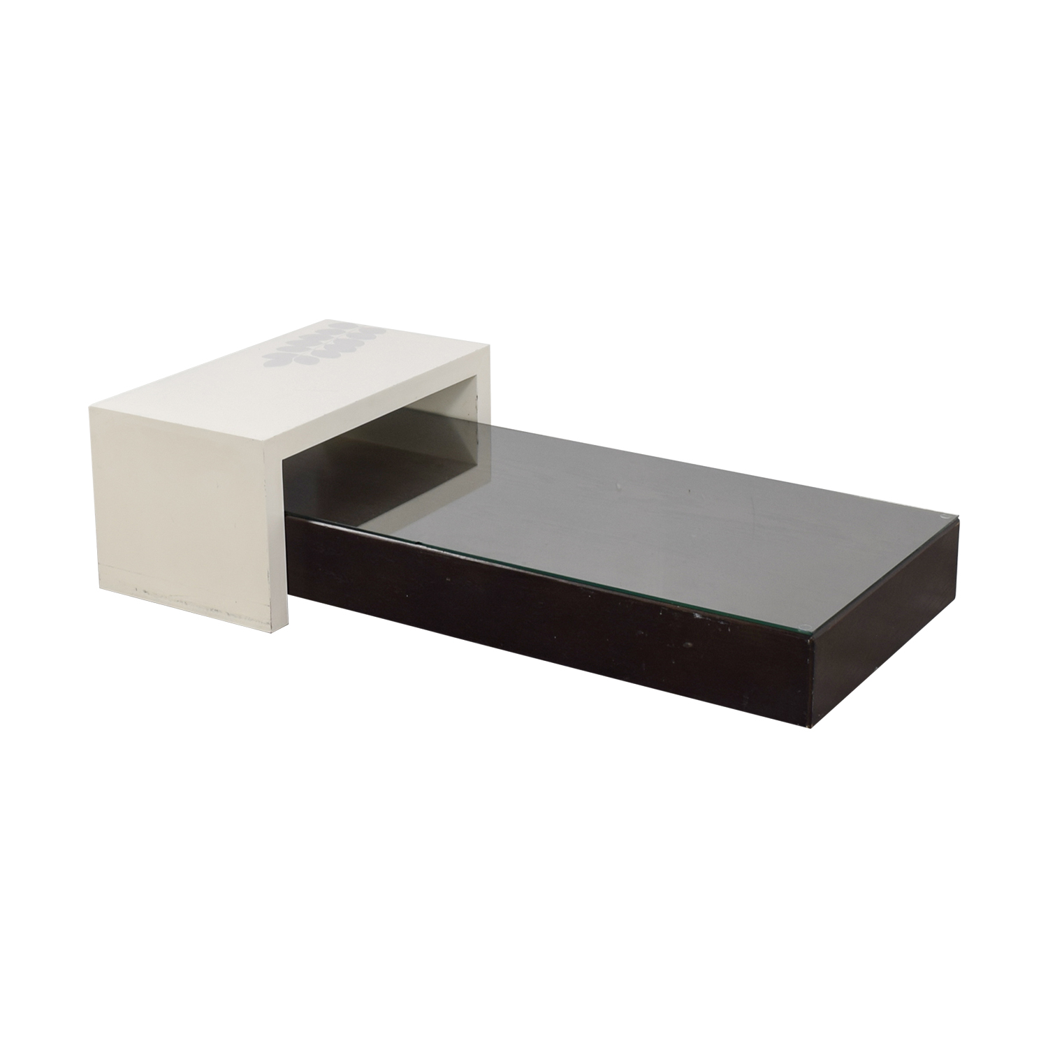 West Elm West Elm Black Platform Coffee Table with White Bridge price