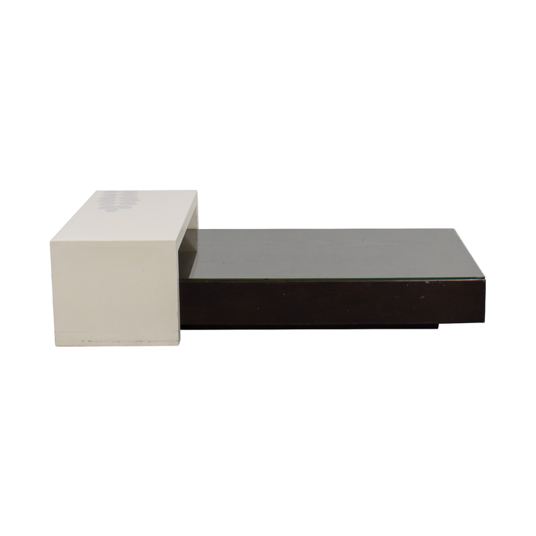 buy West Elm West Elm Black Platform Coffee Table with White Bridge online