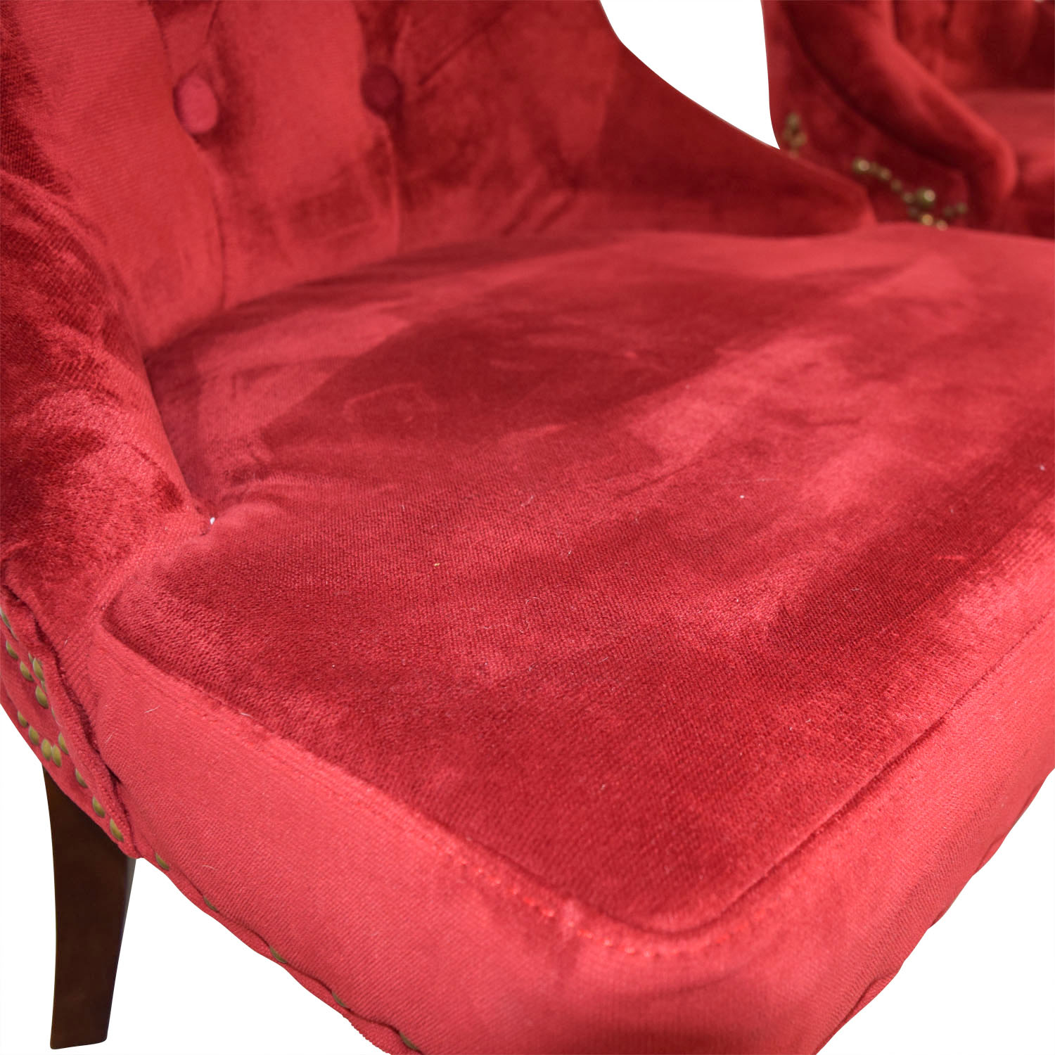 ... Tufted Nailhead Red Velvet Dining Chairs nj & 50% OFF - Tufted Nailhead Red Velvet Dining Chairs / Chairs