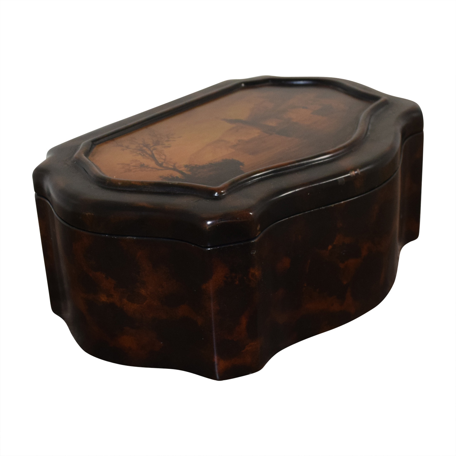 Vintage Wooden Accent Box dimensions