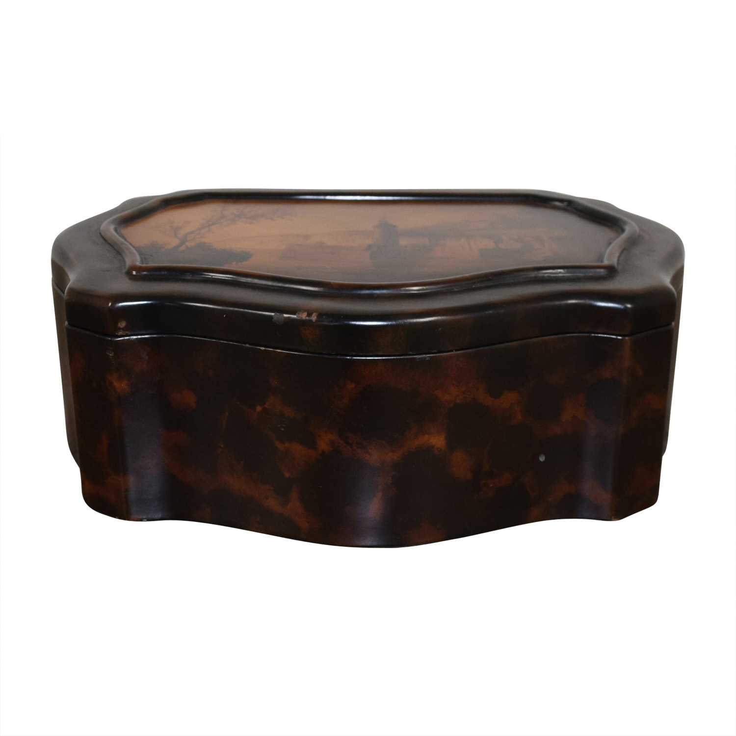 Vintage Wooden Accent Box Decorative Accents